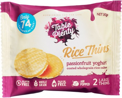 Table of Plenty Triple Rice Thins Passionfruit  30g