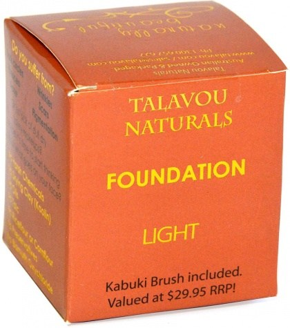 Talavou Naturals Light Powder 8g with Kabuki Brush