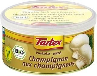 Tartex Pates Organic Mushroom  125gm Can