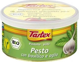 Tartex Pates Organic Pesto  125gm Can