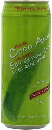 Taste Nirvana Real Coconut Water w/Aloe  12x480ml cans