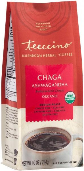 Teeccino Chaga Ashwagandha Mushroom Adaptogen 284g Foil Bag