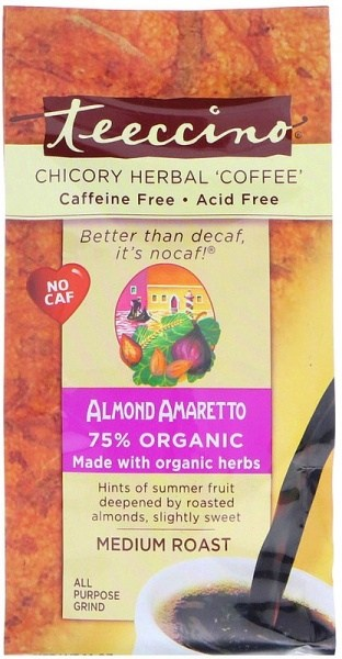 Teeccino Chicory Herbal Coffee All Purpose Grind Almond Amaretto Medium Roast No Caf 312g