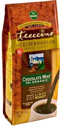 Teeccino Chicory Herbal Coffee All Purpose Grind Chocolate Mint Light Roast No Caf 312g