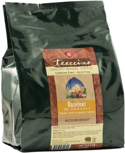 Teeccino Chicory Herbal Coffee Hazelnut Medium Roast No Caf 2.27kg