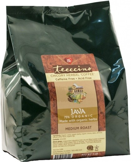 Teeccino Chicory Herbal Coffee Java Medium Roast No Caf 2.27kg