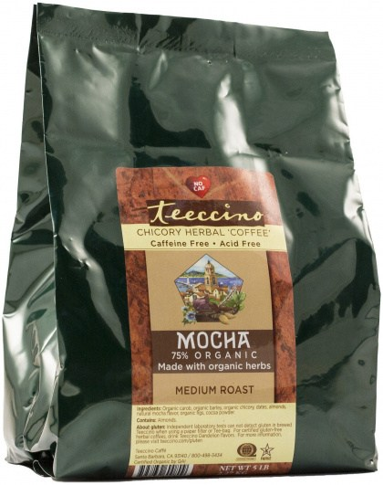 Teeccino Chicory Herbal Coffee Mocha Medium Roast No Caf 2.27kg