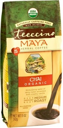 Teeccino Chicory Herbal Coffee Organic All Purpose Grind Maya Chai Medium Roast No Caf 312g