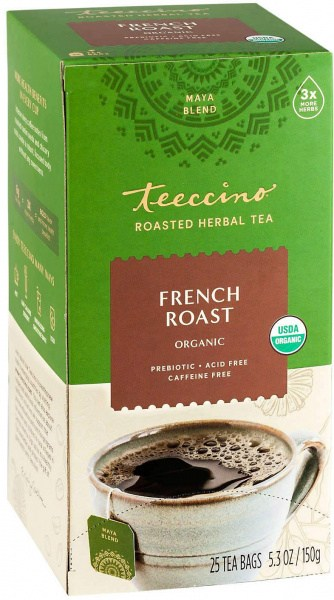 Teeccino Chicory Herbal Tea Organic French Roast Dark Roast No Caf 25Teabags 150g