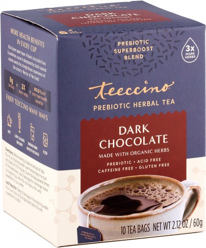 Teeccino Dark Chocolate Prebiotic 10Teabags Box 60g