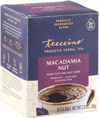 Teeccino Macadamia Nut Prebiotic 10Teabags Box 60g