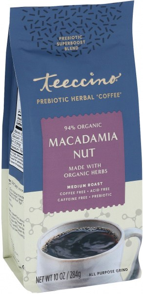 Teeccino Macadamia Nut Prebiotic 284g Foil Bag