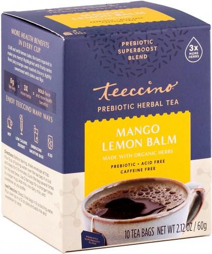 Teeccino Mango Lemon Balm Prebiotic 10Teabags Box 60g