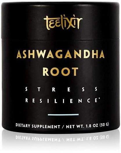 Teelixir Organic Ashwagandha Root Powder Stress Resilience  50g