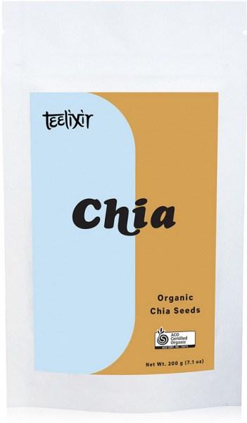 Teelixir Organic Chia Seeds  200g