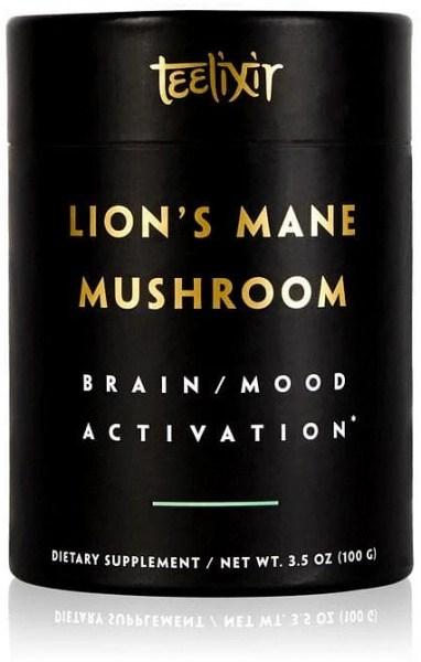 Teelixir Organic Lions Mane Mushroom Powder Brain/Mood Activation  100g