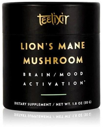 Teelixir Organic Lions Mane Mushroom Powder Brain/Mood Activation  50g