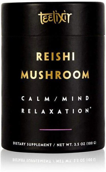 Teelixir Organic Reishi Mushroom Powder Calm/Mind Relaxation  100g