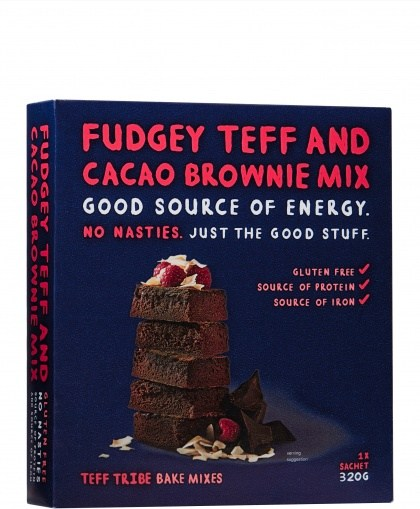 Teff Tribe Fudgey Teff And Cacao Brownie Mix  320g