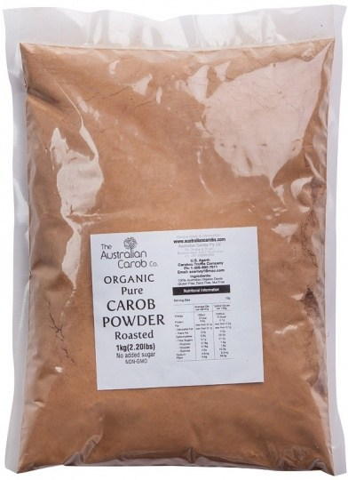 The Australian Carob Organic Carob Powder Roasted 1Kg