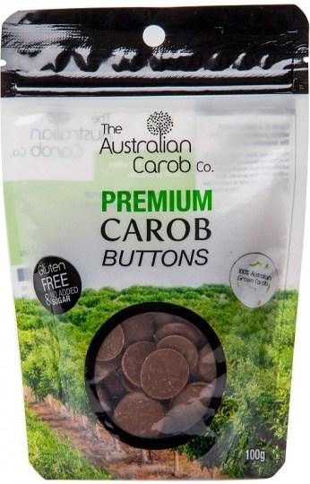 The Australian Carob Premium Carob Buttons NAS 100g