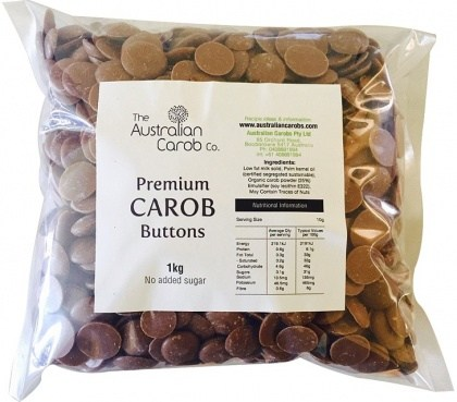 The Australian Carob Premium Carob Buttons NAS 1Kg