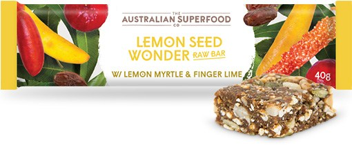 The Australian Superfood Co Lemon Seed Wonder Raw Bar  12x40g