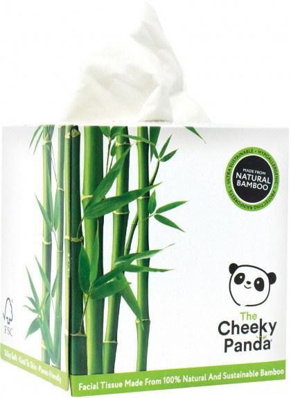 The Cheeky Panda Facial Tissue Cube Box 56 Sheets