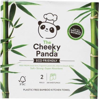 The Cheeky Panda Plastic Free Kitchen 2 Rolls (200 Sheets/Pack)
