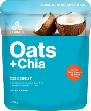 The Chia Co Oats + Chia Coconut 400g