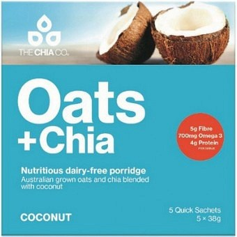 The Chia Co Oats + Chia Coconut 5x38g