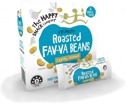 The Happy Snack Company Roasted Fav-va Beans Lightly Salted 6x25g Box