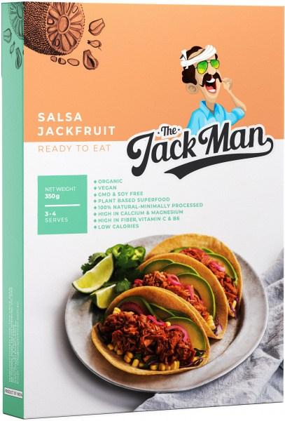 The Jack Man Mexican Salsa Jackfruit Ready Meal  350g