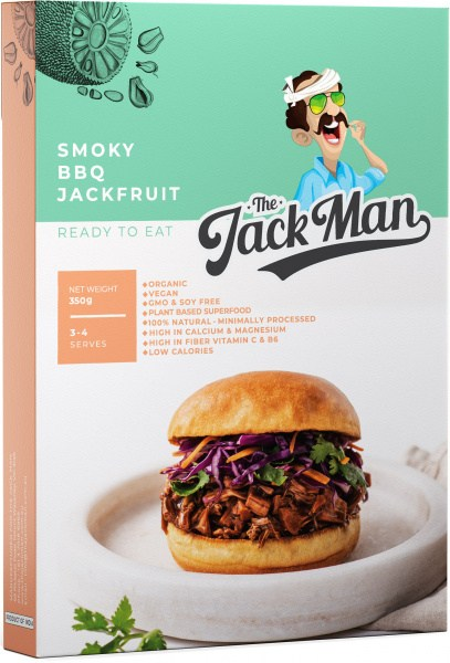 The Jack Man Smoky BBQ Jackfruit Ready Meal 1kg