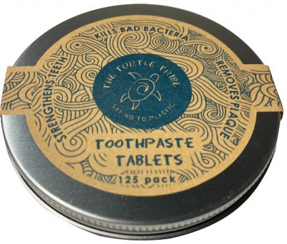 The Turtle Tribe Toothpaste Tablets Mint with Flouride 125Pack