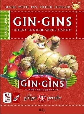 TheGingerPeople Gin Gin Spicy Apple Chewy Ginger Candy  Snack Box 84g