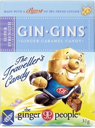 TheGingerPeople Gin Gins Super Strength Ginger Candy Travel Pk  31gm