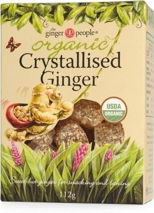 TheGingerPeople Organic Crystalised Ginger  112gm