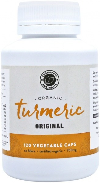 Therapeia Australia Organic Turmeric 700mg 120 vegecaps