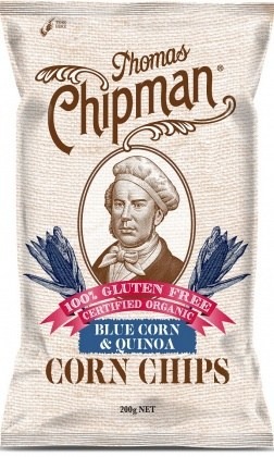 Thomas Chipman Organic Blue Corn & Quinoa Corn Chips  200g