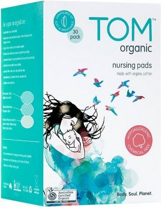 TOM Organic Nursing Pads 30Pk