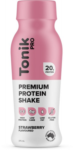 Tonik Pro Protein Drink Strawberries & Cream  375ml