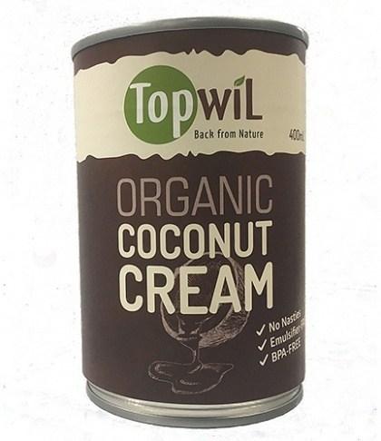 TopwiL Organic Coconut Cream Can BPA-Free 400mL