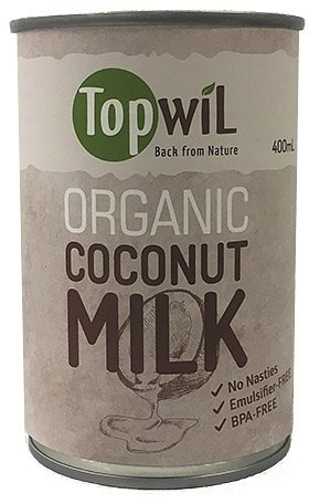 TopwiL Organic Coconut Milk Can BPA-Free 400mL