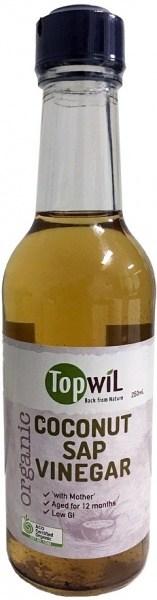 TopwiL Organic Coconut Sap Vinegar Bottle  250mL