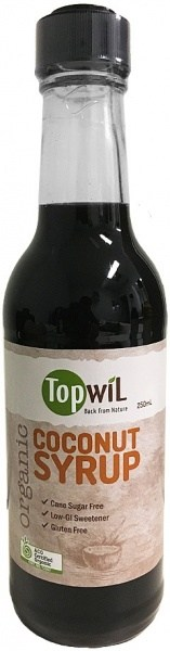 TopwiL Organic Coconut Syrup Bottle  250mL