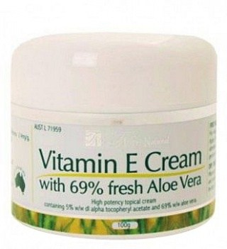 Tri-Natural Vitamin E Cream 69% Aloe 100gm