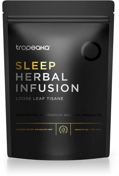 Tropeaka Organic SLEEP HERBAL INFUSION Loose Leaf Tisane  75g Pouch