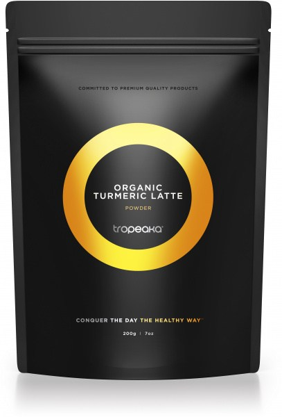 Tropeaka Organic TURMERIC LATTE Powder  200g Pouch