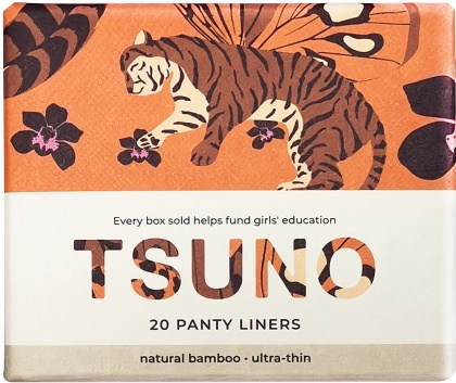 Tsuno Natural Bamboo Panty Liners - Ultra Thin Box of 20